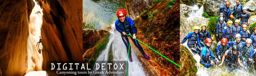 Seeking a true Digital Detox experience in Greece? Try canyoning the Greek gorges!